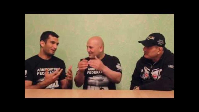 Martakan Akumb program.Gegard Mousasi,Hayk Ghukasyan and Gokor Chivichyan