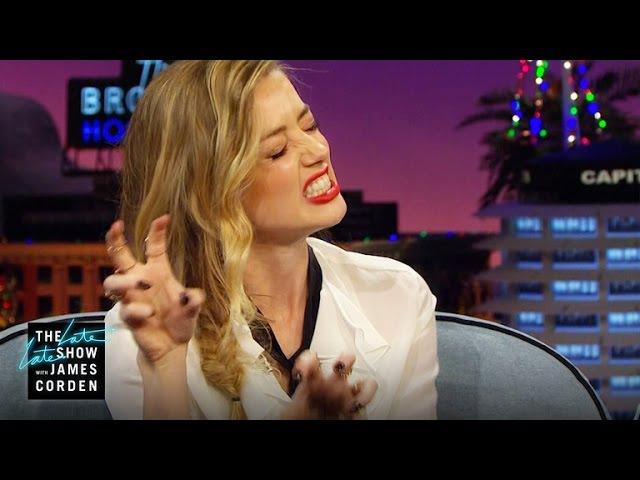 Amber Heard Has a Ballet Claw
