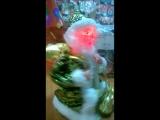 Дед мороз 22 см крутящийся парчовая шуба (рус мел) 827796