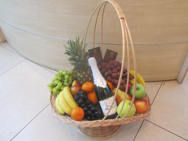 Как сделать корзину с фруктами своими руками