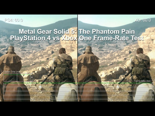 Metal Gear Solid 5: PS4 vs Xbox One Gameplay Frame-Rate Test