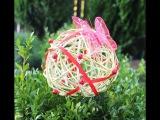 Декоративный шар из лозы