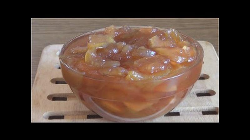 Яблочное варенье с лимоном удивительно ароматное.