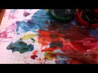 DIY: по краска ниток в меланж