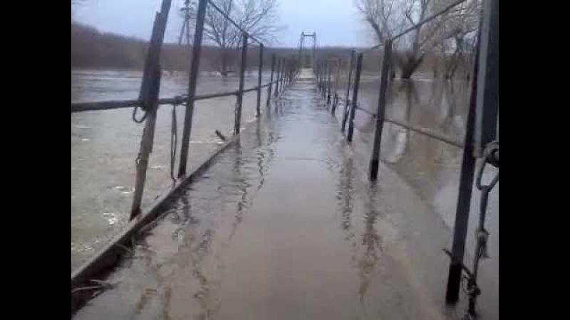 Наводнение в Самойловке (Подвесной мост) 10 апреля 2012