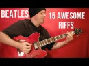THE BEATLES 🔷15 Great Riffs! Guitar Lesson