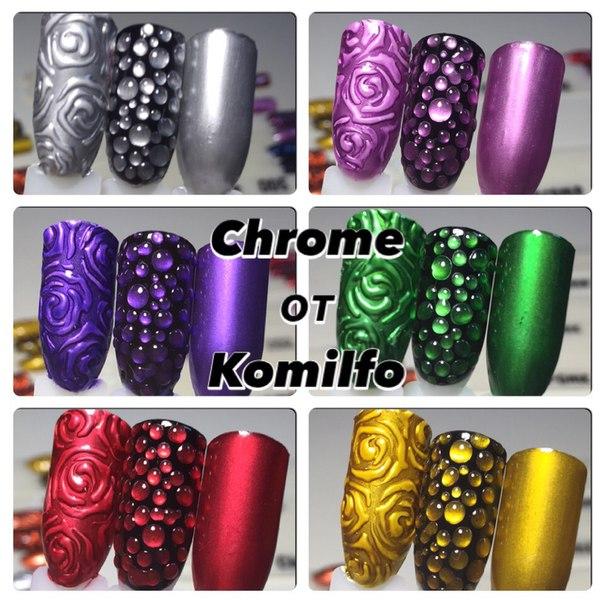 Дизайн ногтей с хромом
