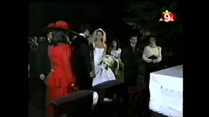 Natalia Oreiro . Fragmento Cap. Ricos y Famosos 1997 - Casamiento
