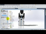 SolidWorks A Tutorial #174-Universal Joint adv. assembly