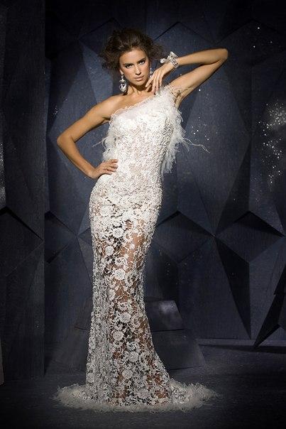 Платье вечернее вязаное фото