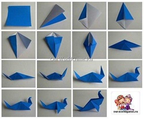 Как сделать бумажного журавлика своими руками