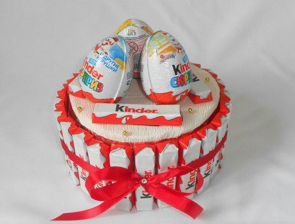 Маленький торт из киндеров своими руками 18