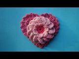 Как вязать сердечко How to crochet heart  Урок 326