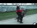 как научиться ездить на заднем колесе (орион 80 куб см;))