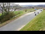 Guy Martin Leading &amp Crash at Scarborough Ian Watson Spring Cup at Olivers Mount 210413