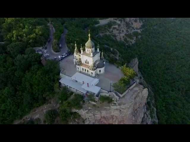 Воскресенская церковь 4K (Форос) | Foros Resurrection Church 4K | DJI Phantom 3