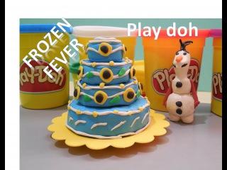 Frozen Fever Olaf Queen Elsa Birthday Princess Anna Playdoh Холодное сердце 2 Ледяная лихорадка Олаф