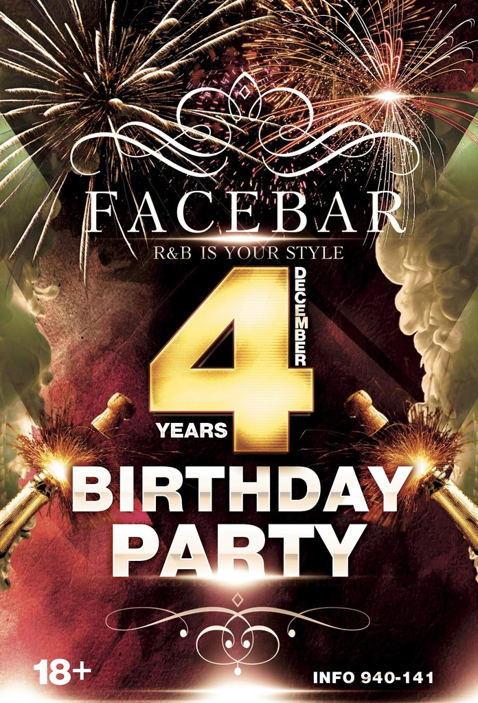 Афиша Хабаровск FACE BAR HAPPY B-DAY! /5 ДЕКАБРЯ/