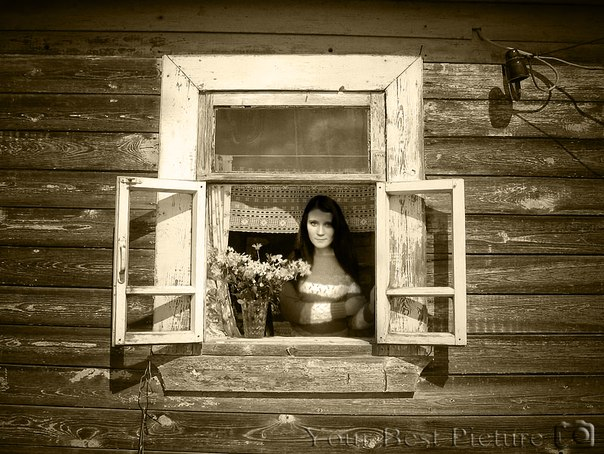Деревенское окно фото