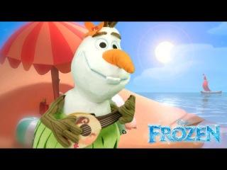 Disney Frozen Olaf Aloha Plush from The Disney Store