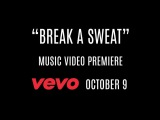 Just a little sneak peak of the #BreakASweatVideo premiering TOMORROW,10/9 on @VEVO