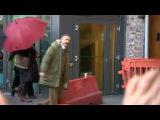 М.Фриман на сьемках сериала Шерлок 6..01.15