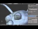 Blender 2.6 Tutorial 38 - Shape Keys: Blinking