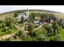 Рекламный ролик снятый с высоты птичьего полета. Родные земли. Поселок Синяя Птица