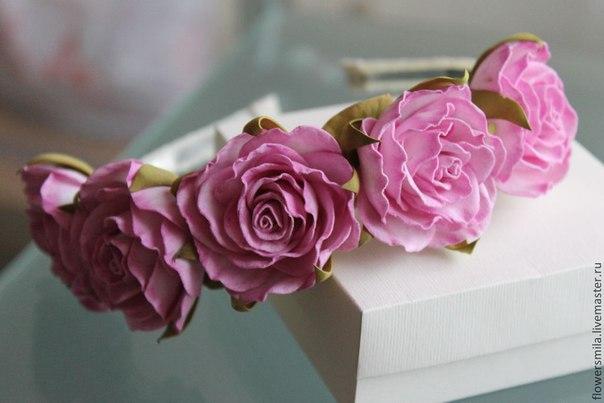 Цветы из фоамирана для ободков своими руками
