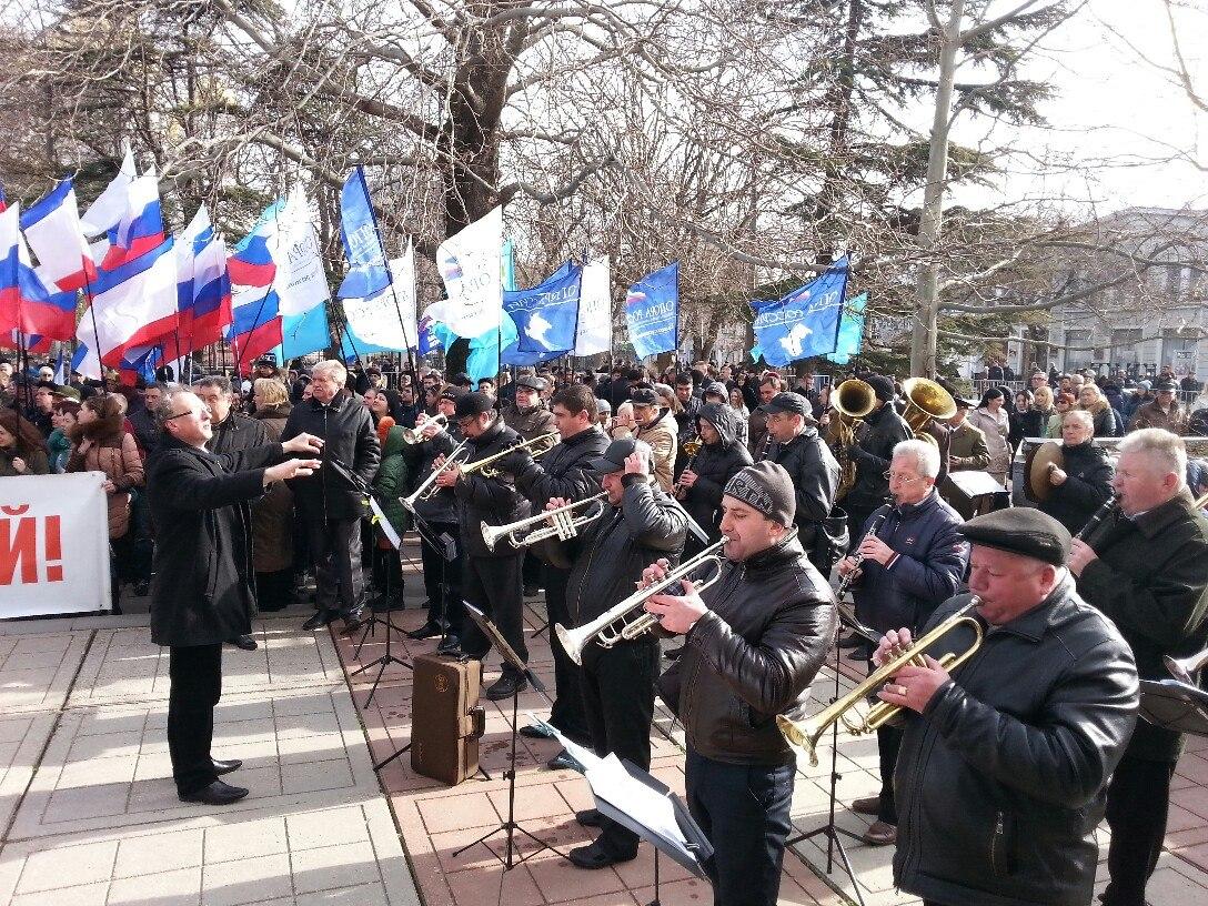 Навеки с Россией!: сегодня перед Госсоветом прошел праздничный митинг-концерт