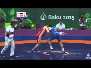Elvin Mursaliyev (Azerbaijan) vs Chingiz Labazanov (Rusiya)   Baku 2015 European Games