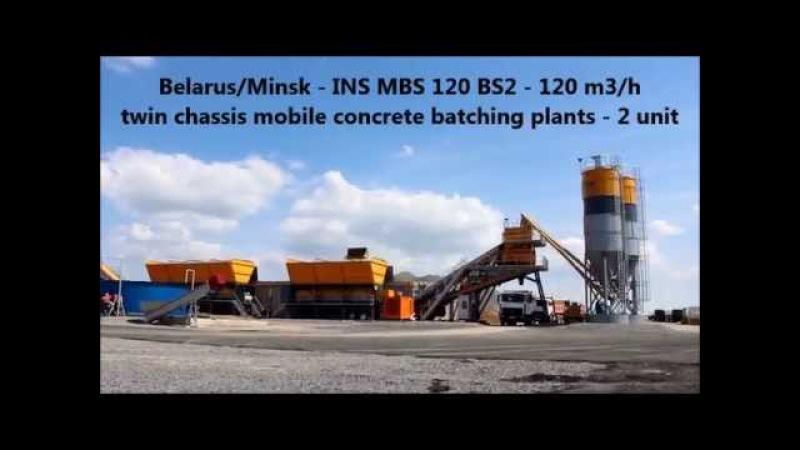 Ins machinery BELARUS concrete batching plants Centrales a beton beton santralleri beton santr