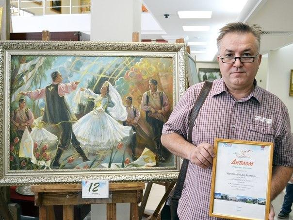 Художник из Нижнекамска получил 120 000 рублей за картину о Сабантуе