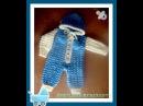 Комбинезон для малыша спицами. Часть 4. Jumpsuit for baby knitting