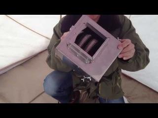 Теплообменник в зимнюю палатку своими руками видео
