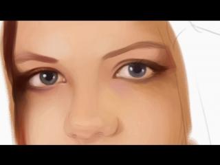 Процесс рисования портрета digital art