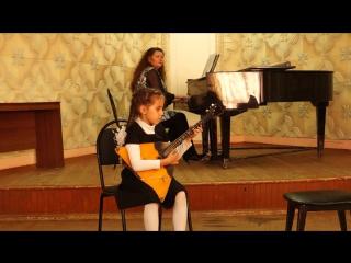 """А. Коваленко - """"Прогулка"""" из цикла детских пьес для балалйки"""
