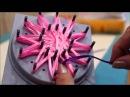 Цветы из ленты своими руками. Вязание на луме. Плетение цветов. (Ribbon Flower by Lume)