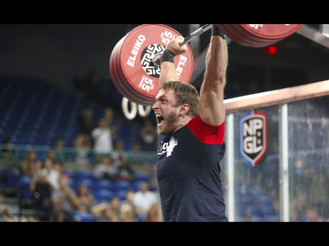 Dmitry Klokov's Thruster Ladder at the Grid Championship Match