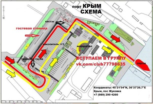 Схема порта Крым накопителя №1