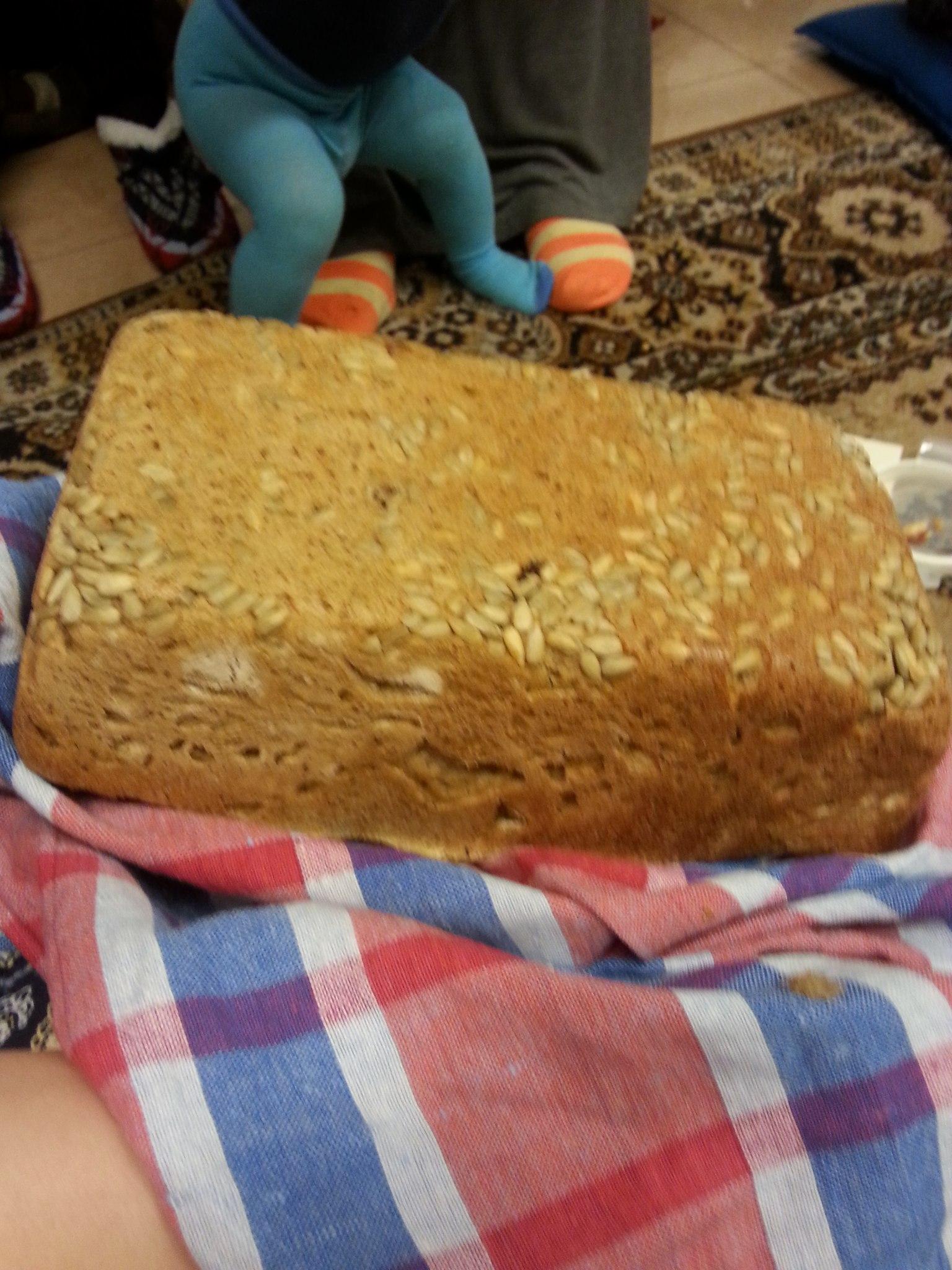 Ржаной хлеб с дрожжами в духовке рецепт пошагово в