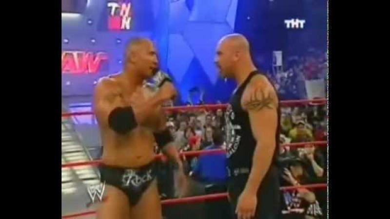 WWE / Голдберг - Рок / RAW 2003/04/07 [Фоменко]