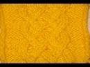 Вязание спицами узора Кельтская коса Схема 12 Knitting pattern Celtic braid 12 Scheme