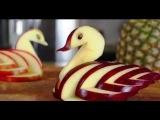Эстетическое развитие Как вырезать лебедя из яблока  Карвинг