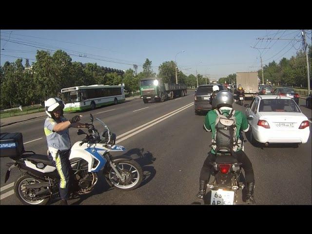 Как МОТОБАТ ДПС ловит мотоциклистов. Подборка сезона 2014. часть 1.