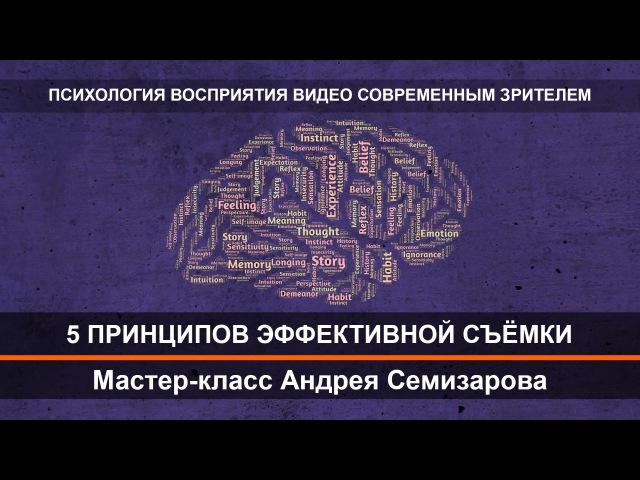 Психология восприятия видео современным зрителем. Фрагмент мастер-класса Андрея Семизарова