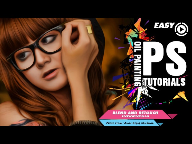 Create Easy Retouch Smudge Painting Photoshop Tutorial