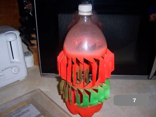 Ветряной генератор из бутылок
