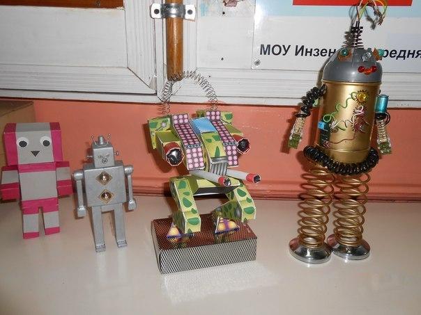 Поделка в школу робот 75