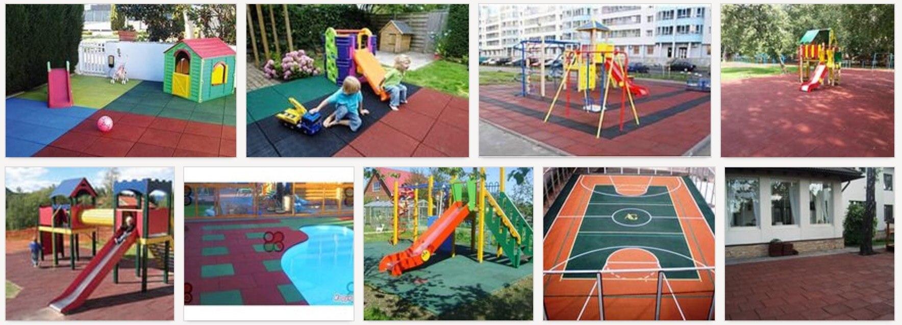 Резиновое покрытие площадок для детей